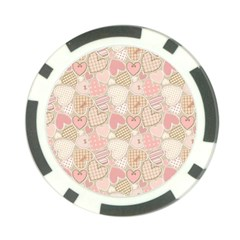 Cute Romantic Hearts Pattern Poker Chip Card Guard (10 Pack) by yoursparklingshop