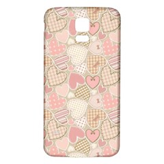 Cute Romantic Hearts Pattern Samsung Galaxy S5 Back Case (white) by yoursparklingshop