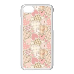 Cute Romantic Hearts Pattern Apple Iphone 8 Seamless Case (white) by yoursparklingshop