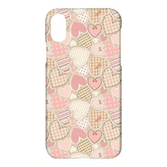 Cute Romantic Hearts Pattern Apple Iphone X Hardshell Case by yoursparklingshop