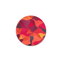 Red Orange Yellow Pink Art Golf Ball Marker (10 Pack) by yoursparklingshop