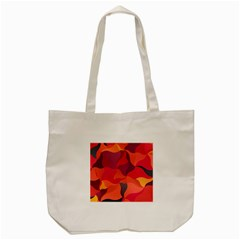 Red Orange Yellow Pink Art Tote Bag (cream) by yoursparklingshop