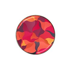 Red Orange Yellow Pink Art Hat Clip Ball Marker (4 Pack) by yoursparklingshop