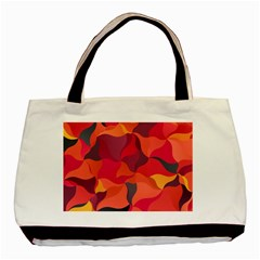 Red Orange Yellow Pink Art Basic Tote Bag by yoursparklingshop
