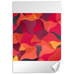 Red Orange Yellow Pink Art Canvas 20  X 30   by yoursparklingshop