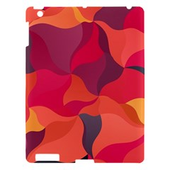 Red Orange Yellow Pink Art Apple Ipad 3/4 Hardshell Case by yoursparklingshop