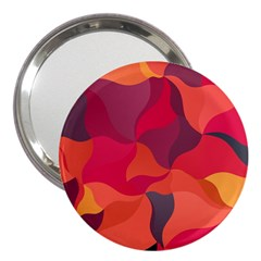 Red Orange Yellow Pink Art 3  Handbag Mirrors by yoursparklingshop
