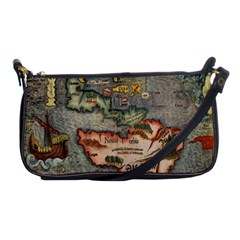 Vintage Map Shoulder Clutch Bags by ArtworkByPatrick