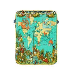Vintage Map 1 Apple Ipad 2/3/4 Protective Soft Cases