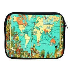 Vintage Map 1 Apple Ipad 2/3/4 Zipper Cases