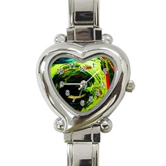 Abandoned Mine 3 Heart Italian Charm Watch
