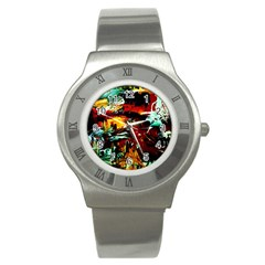 Grand Canyon Sunset Stainless Steel Watch