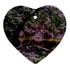 Old Tree 6 Heart Ornament (two Sides) by bestdesignintheworld