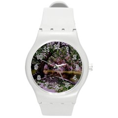 Old Tree 6 Round Plastic Sport Watch (m) by bestdesignintheworld