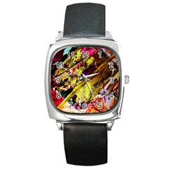 Absurd Theater In And Out 12 Square Metal Watch by bestdesignintheworld