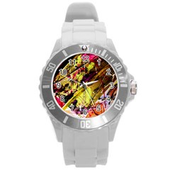 Absurd Theater In And Out 12 Round Plastic Sport Watch (l) by bestdesignintheworld