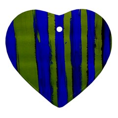 Stripes 4 Heart Ornament (two Sides) by bestdesignintheworld