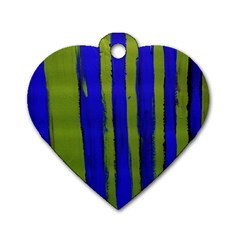 Stripes 4 Dog Tag Heart (two Sides) by bestdesignintheworld
