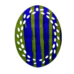 Stripes 4 Oval Filigree Ornament (two Sides) by bestdesignintheworld