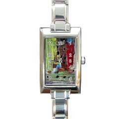 Point Of View 9 Rectangle Italian Charm Watch by bestdesignintheworld