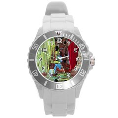 Point Of View 9 Round Plastic Sport Watch (l) by bestdesignintheworld