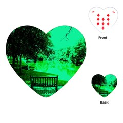 Lake Park 20 Playing Cards (heart)  by bestdesignintheworld
