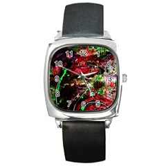 Bloody Coffee 2 Square Metal Watch by bestdesignintheworld