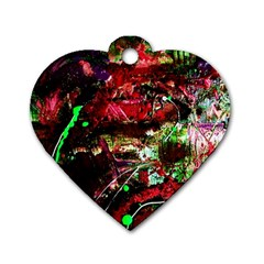 Bloody Coffee 2 Dog Tag Heart (one Side) by bestdesignintheworld