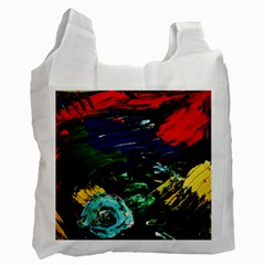 Tumble Weed And Blue Rose Recycle Bag (one Side) by bestdesignintheworld