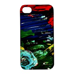 Tumble Weed And Blue Rose Apple Iphone 4/4s Hardshell Case With Stand by bestdesignintheworld