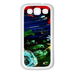 Tumble Weed And Blue Rose Samsung Galaxy S3 Back Case (white) by bestdesignintheworld