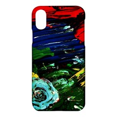 Tumble Weed And Blue Rose Apple Iphone X Hardshell Case by bestdesignintheworld