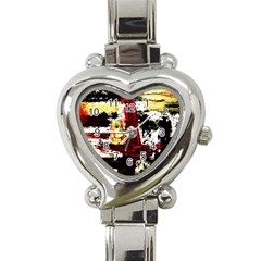 Collosium   Swards And Helmets 8 Heart Italian Charm Watch by bestdesignintheworld