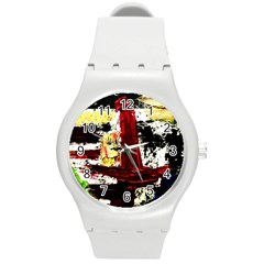 Collosium   Swards And Helmets 8 Round Plastic Sport Watch (m) by bestdesignintheworld