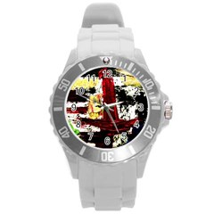 Collosium   Swards And Helmets 8 Round Plastic Sport Watch (l) by bestdesignintheworld