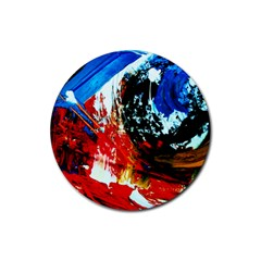 Mixed Feelings 4 Rubber Round Coaster (4 Pack)  by bestdesignintheworld