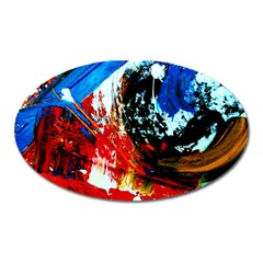 Mixed Feelings 4 Oval Magnet by bestdesignintheworld