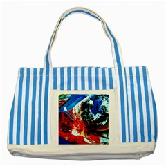 Mixed Feelings 4 Striped Blue Tote Bag by bestdesignintheworld
