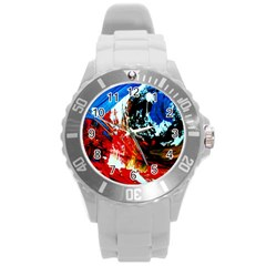 Mixed Feelings 4 Round Plastic Sport Watch (l) by bestdesignintheworld