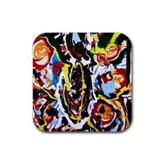 Inposing Butterfly 1 Rubber Coaster (square)  by bestdesignintheworld