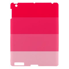 Pink Scarlet Gradient Stripes Pattern Apple Ipad 3/4 Hardshell Case by yoursparklingshop