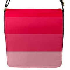 Pink Scarlet Gradient Stripes Pattern Flap Messenger Bag (s) by yoursparklingshop