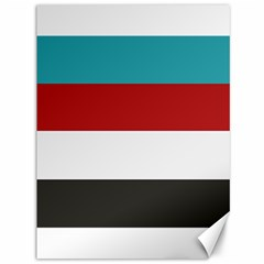 Dark Turquoise Deep Red Gray Elegant Striped Pattern Canvas 36  X 48   by yoursparklingshop