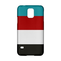 Dark Turquoise Deep Red Gray Elegant Striped Pattern Samsung Galaxy S5 Hardshell Case  by yoursparklingshop