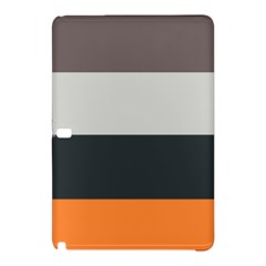 Orange Sand Charcoal Stripes Pattern Striped Elegant Samsung Galaxy Tab Pro 10 1 Hardshell Case by yoursparklingshop