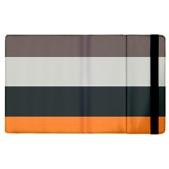 Orange Sand Charcoal Stripes Pattern Striped Elegant Apple Ipad Pro 12 9   Flip Case by yoursparklingshop