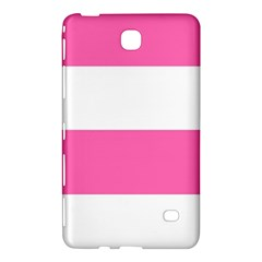 Horizontal Pink White Stripe Pattern Striped Samsung Galaxy Tab 4 (8 ) Hardshell Case  by yoursparklingshop
