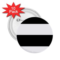 Black And White Striped Pattern Stripes Horizontal 2 25  Buttons (10 Pack)  by yoursparklingshop
