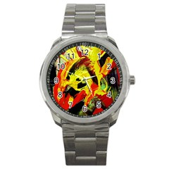 Fish And Bread1/1 Sport Metal Watch by bestdesignintheworld
