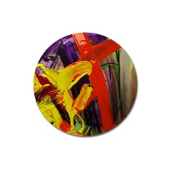 Fish And Bread1/2 Magnet 3  (round) by bestdesignintheworld